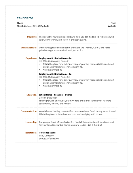 Functional resume resume resumetemplate resumedesign diyresume