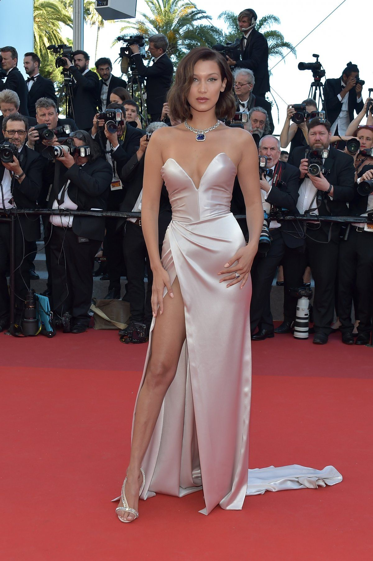 Cannes France May Bella Hadid Attends The Ismaels Ghosts Les Fantomes Dismael Screening And Opening Gala During The Annual Cannes Film Festival At