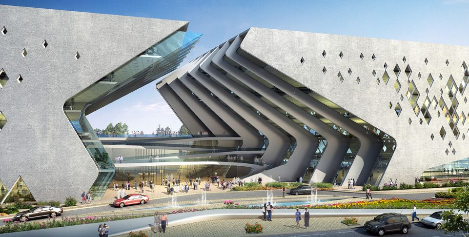 Basra Cultural Center Dewan Architects Engineers Arch2o Com Cultural Architecture Concept Architecture Architecture Design