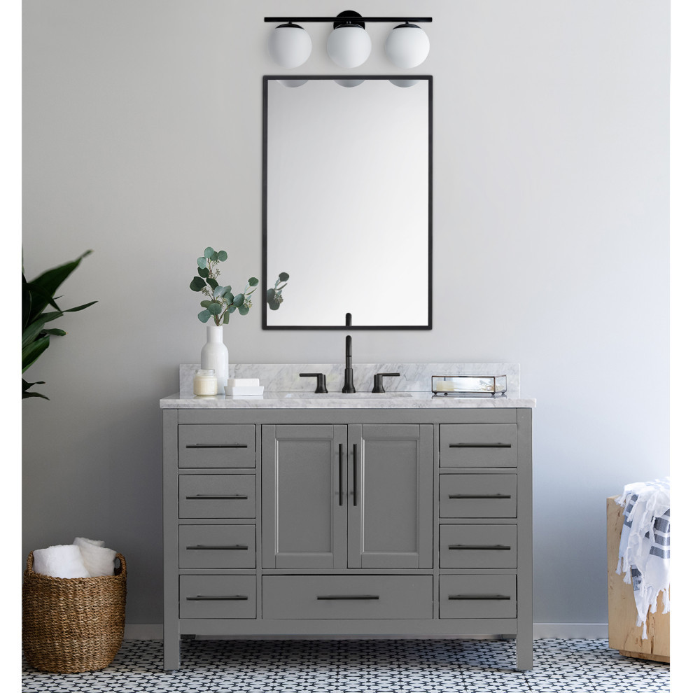 Aidan Triple Sconce Contemporary Bathroom Vanity Lighting By Houzz In 2020 Guest Bathroom Decor Contemporary Bathroom Vanity Bathroom Sconces