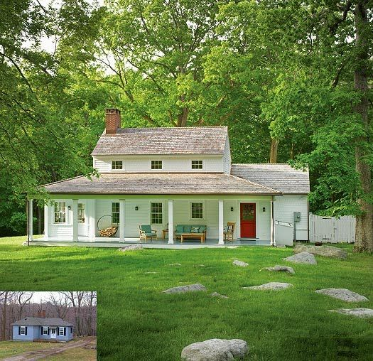 Wow small cottage into lovely white farmhouse the laurel hedge best not so big house american farmhouse style pinterest laurel hedge