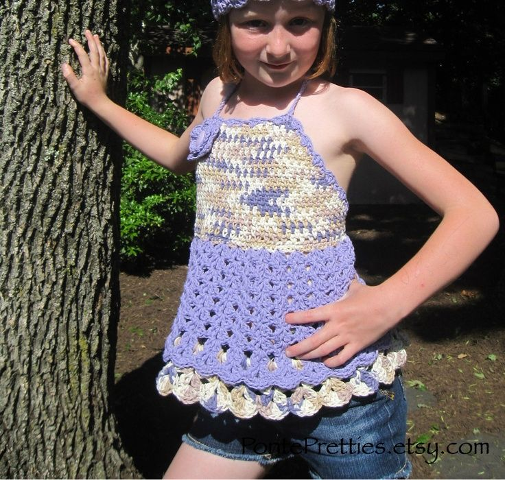 Crochet Halter Patterns For Gurls 4t 6t Girls Halter Top Or