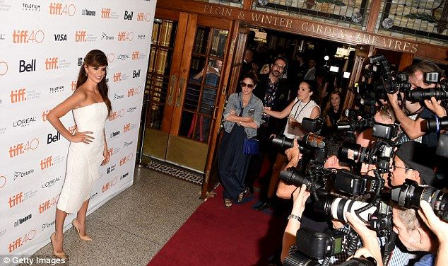 Penelope perfection: Penelope is photographed on the red carpet at the premiere of Ma Ma a...