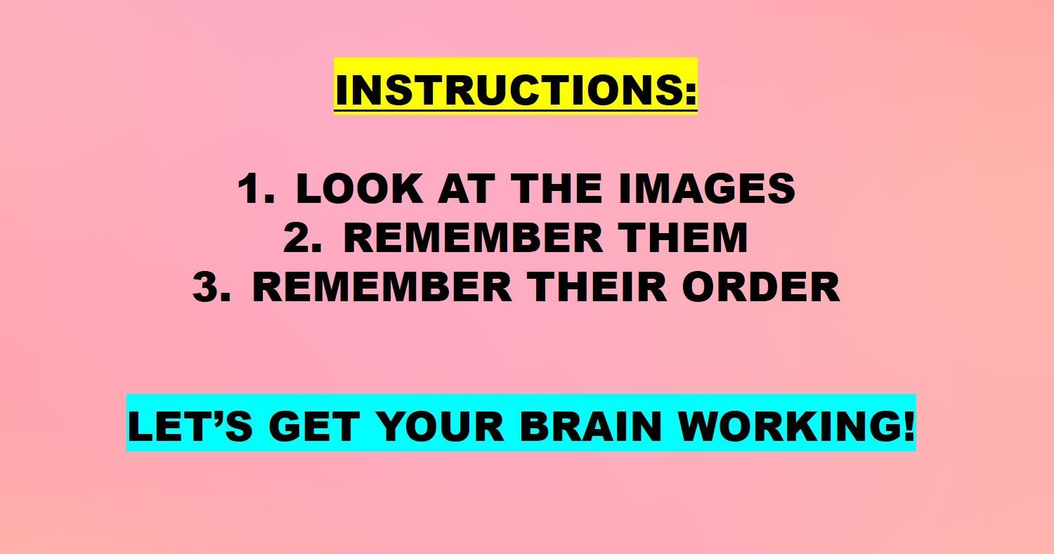 Test: Check your visual memory