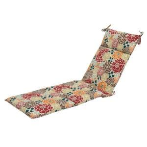 Hampton Bay Lois Floral Outdoor Chaise Lounge Cushion Discontinued 7407 01000300 The Home Depot Outdoor Chaise Lounge Cushions Chaise Lounge Cushions Floral Patio