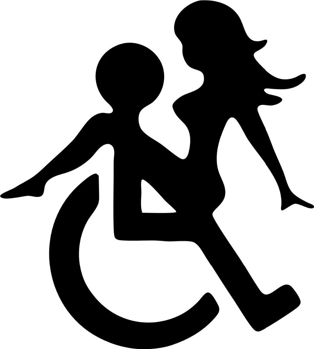 WHEELCHAIR SEX FUNNY DECALS STICKERS SUITABLE FOR CARS BIKES - Funny decal stickers for carssticker car window picture more detailed picture about funny car