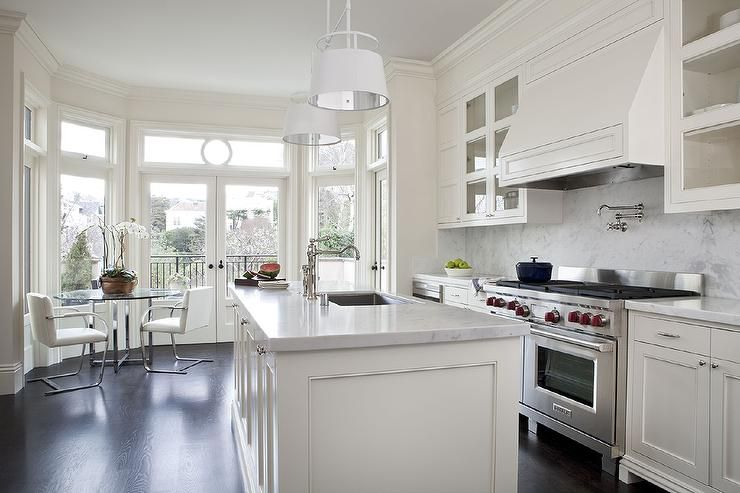 30 Modern White Kitchen Design Ideas And Inspiration  Marble Simple White Kitchen Design Ideas Design Decoration