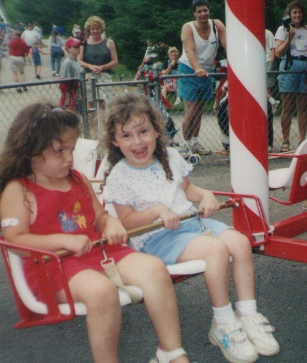 Hannah tried SO hard to get that other little girl to smile! It just didn't work.  // Kim W. #TheWayWayBack #PinToWin