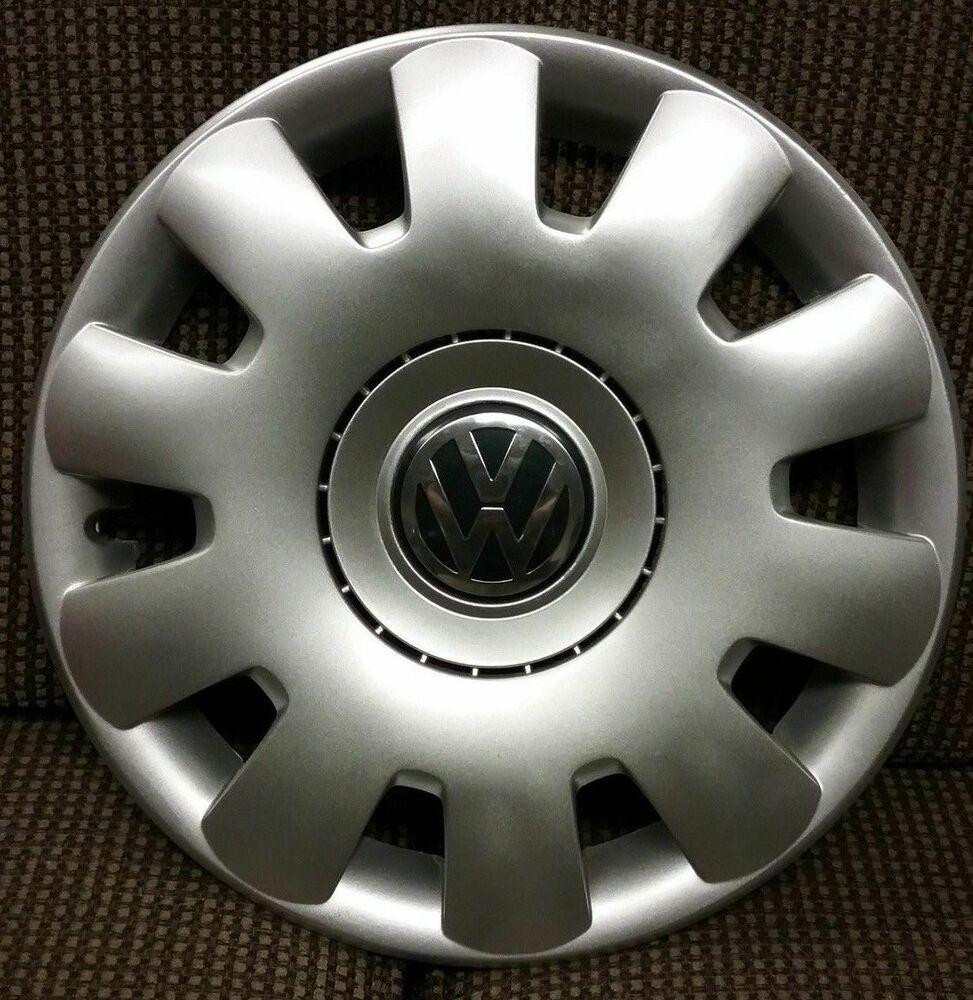 """1 Set of 4 VW Volkswagen Hubcaps 15/"""" Wheel Covers"""