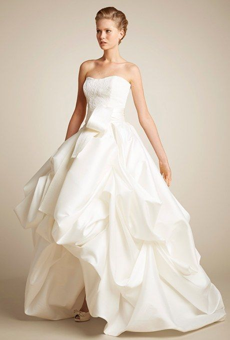 250b26f6a8 Short front long back wedding dress. Romantic silk skirt with a beaded  sweetheart bodice in pure silk
