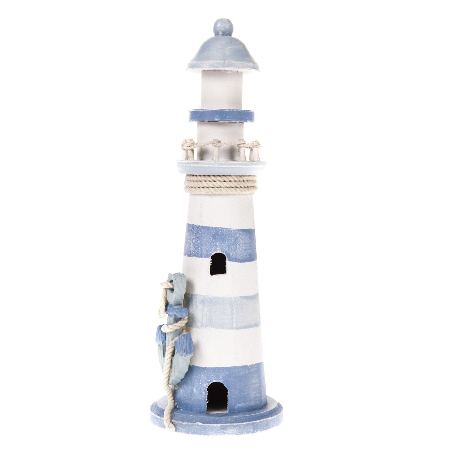 Blue & White Lighthouse With Anchor | The Range | Nautical Themed ...