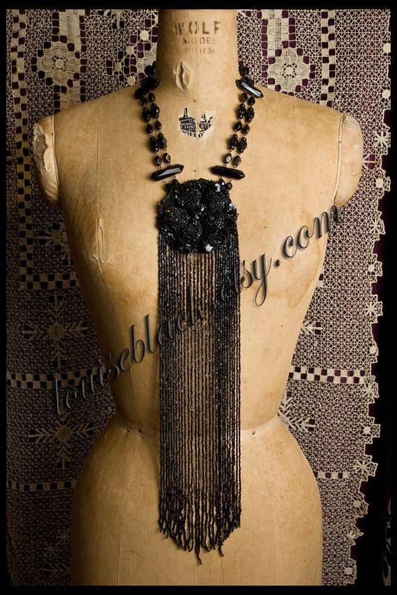 Theda Bara's Madame Mystery Jet Flapper Necklace by Louise Black.  Shhhhh, don't tell anyone - I bought it.