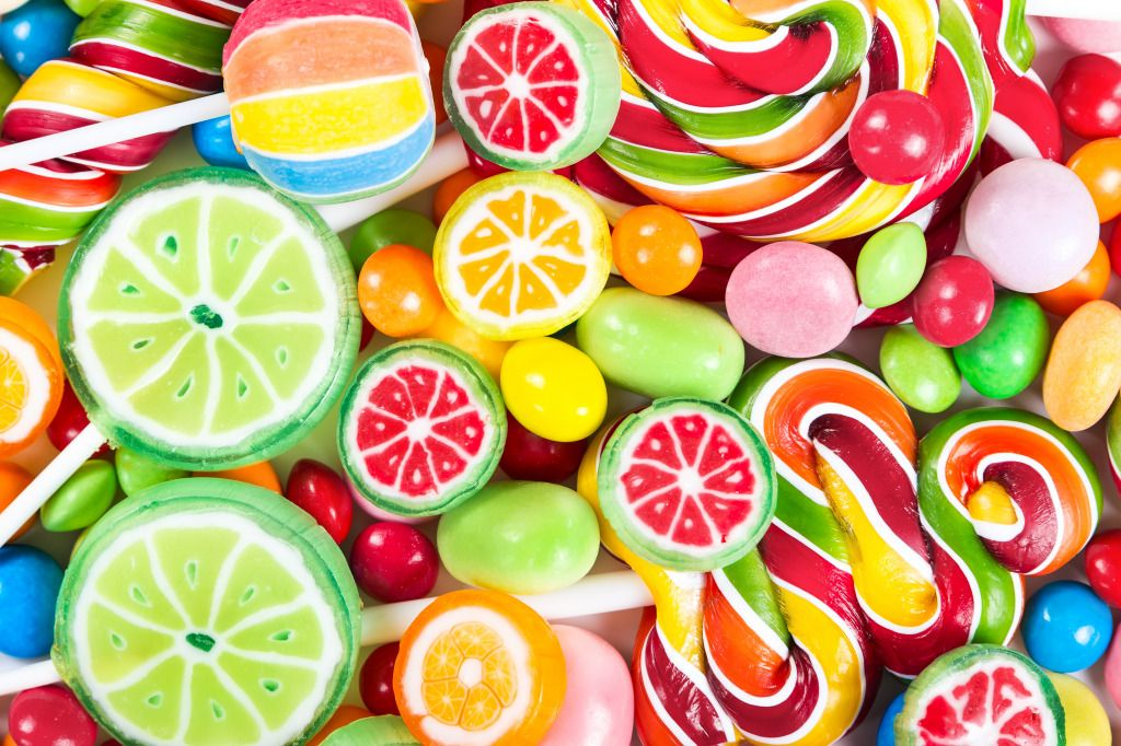 Colorful Lollipops puzzle in Macro jigsaw puzzles on
