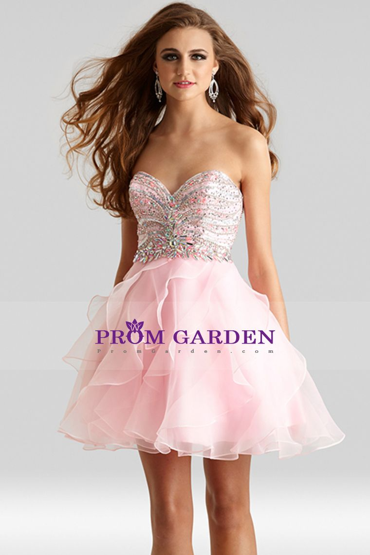 prom dresses a line sleeveless shortmini organza with beading