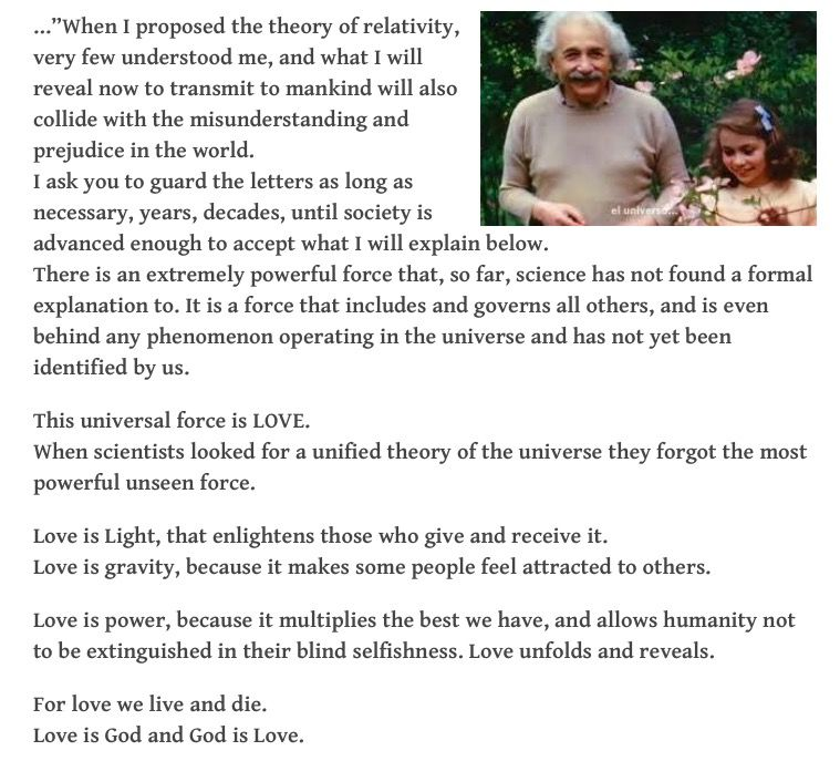 Einstein S Letter To His Daughter 1 Of 2 Messages In 2019