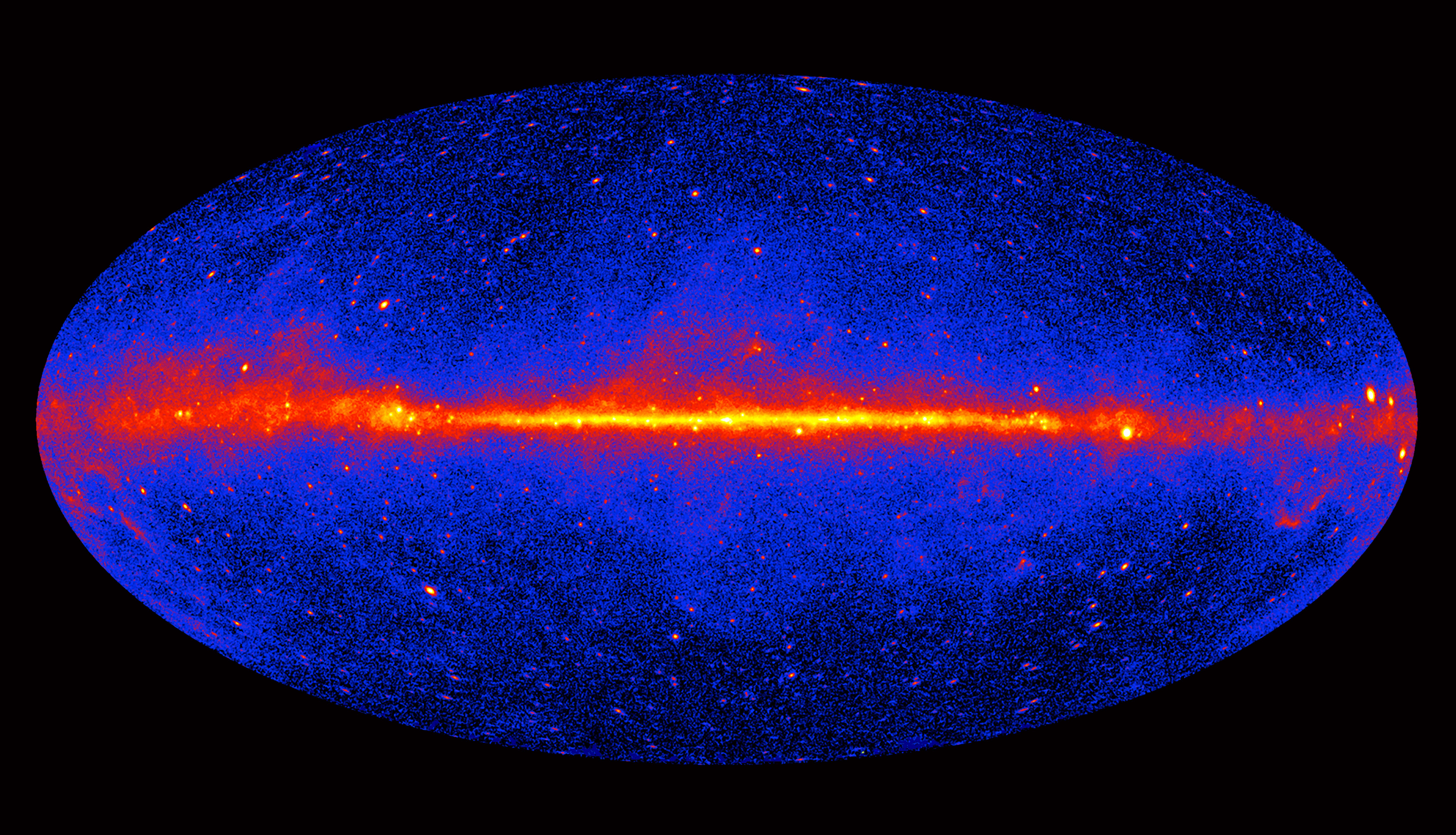 This Image Of The Entire Sky Includes Three Years Of Observations By Fermi S Large Area Telescope Lat It Sho Dark Matter Gravitational Waves Space Telescope