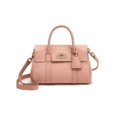 88cb5bd6a9 Mulberry - Small Bayswater Satchel in Rose Petal Small Classic Grain ...