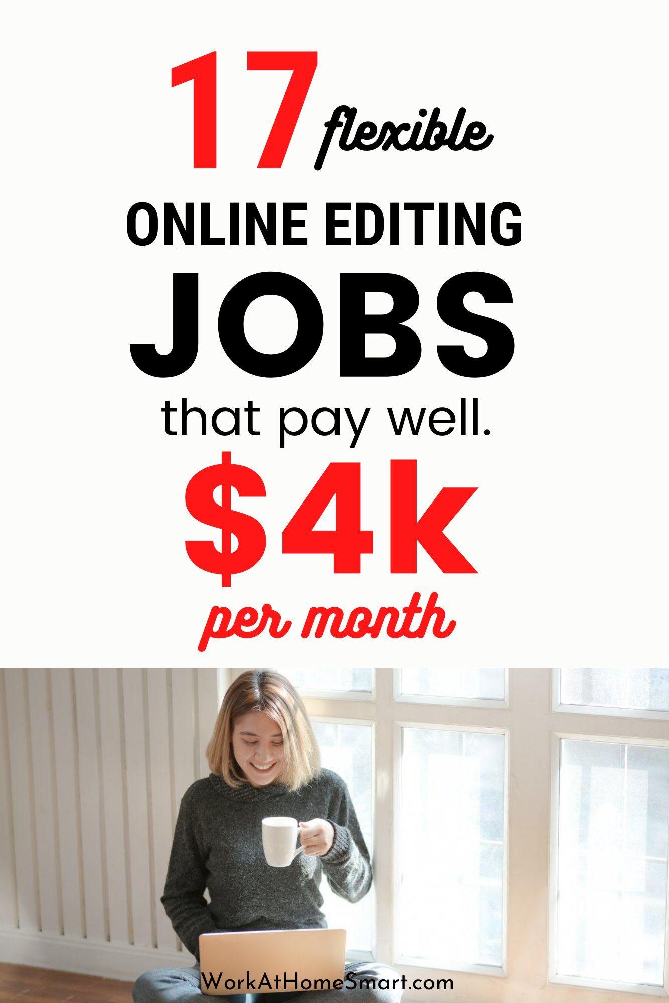 17 Online Editing Jobs 2020 The Best Freelance Editing Jobs In 2020 Online Editing Jobs Editing Jobs Freelance Editing Jobs