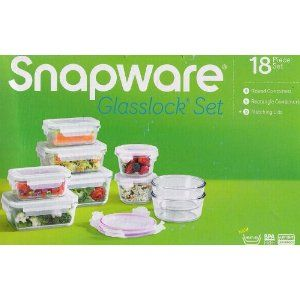 Snapware Glasslock. Great microwave safe resealable