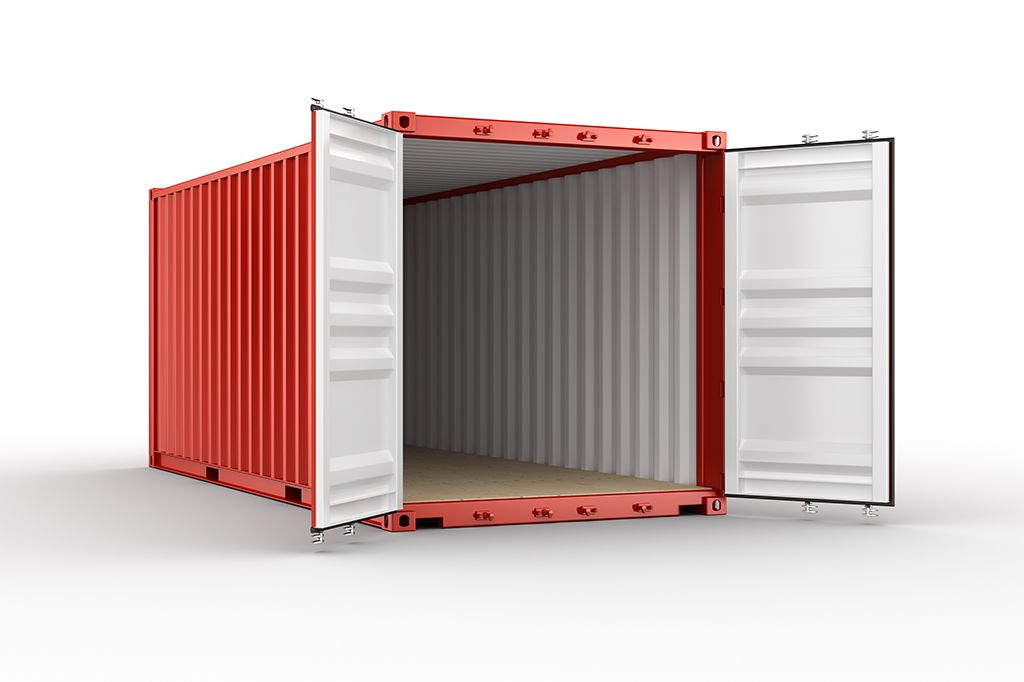 Portable storage containers for moving