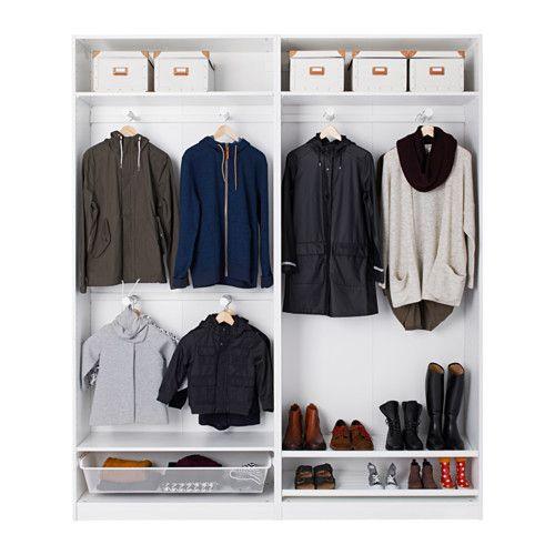 PAX Garderobeskab - 200x44x236 cm, - - IKEA