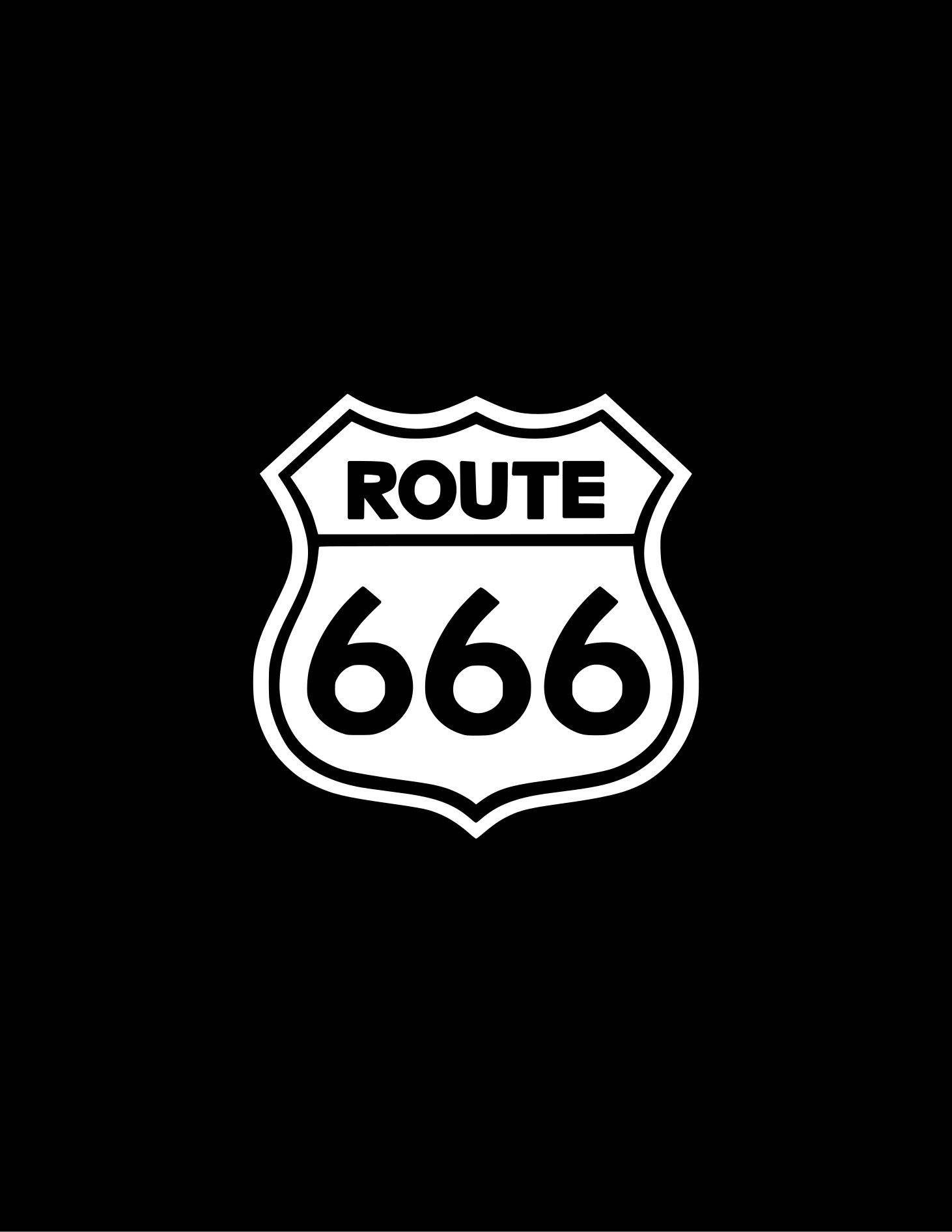 Route 666 Decal 666 Vinyl Decal Sticker Yeti Tumbler Cooler Window Bumper Route 666 Sticker Vinyl Decal Stickers Satanic Art Stickers [ 1892 x 1462 Pixel ]
