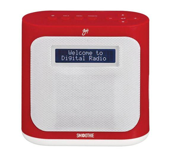 Exceptional GOJI Smoothie GDABR14 Portable DAB+ Radio   Red