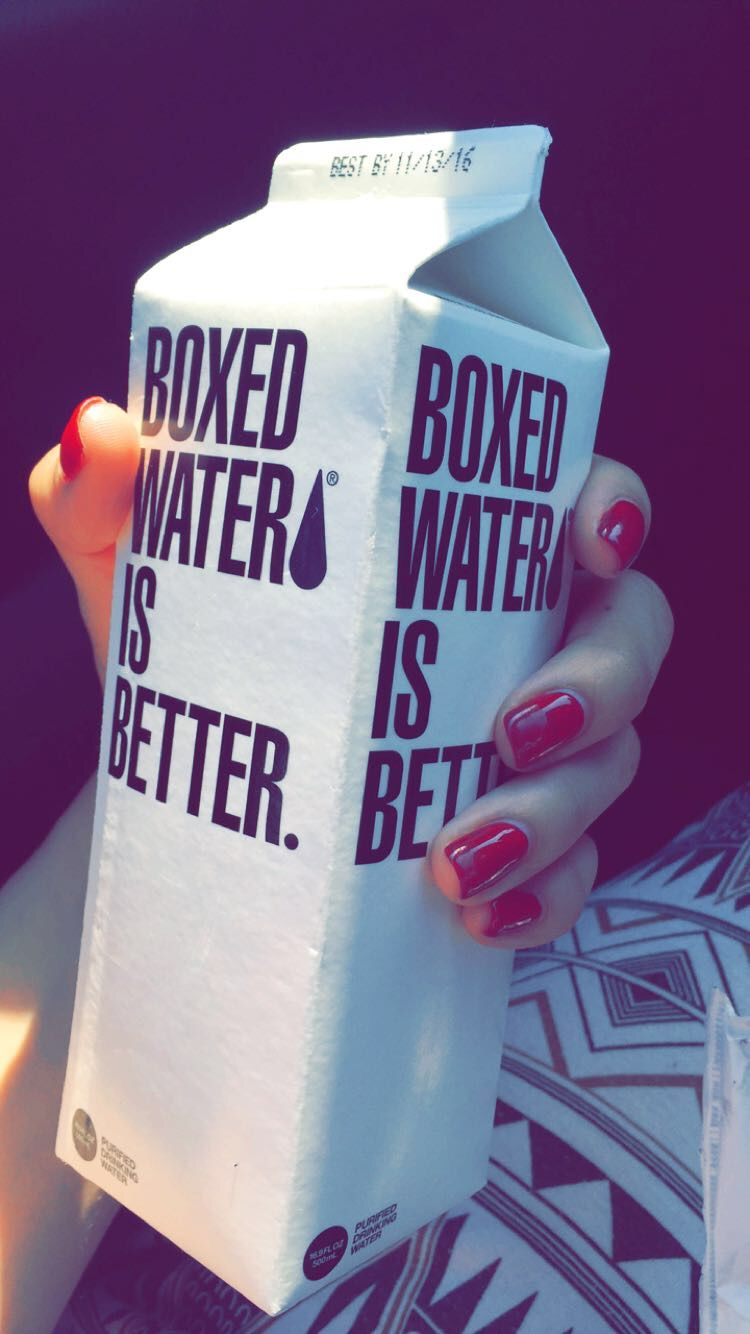 Boxed water is better. #helping #environment