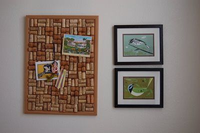 cork board made out of wine corks...