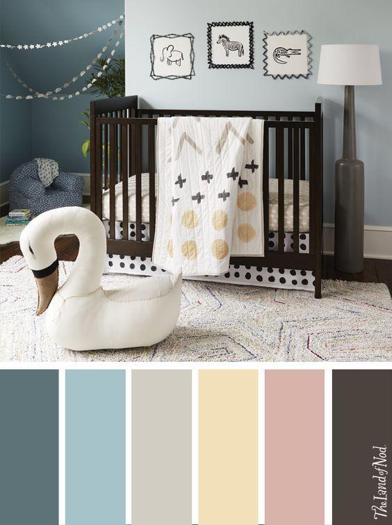 Paletas de colores para habitacion de bebe, colores para el cuarto ...