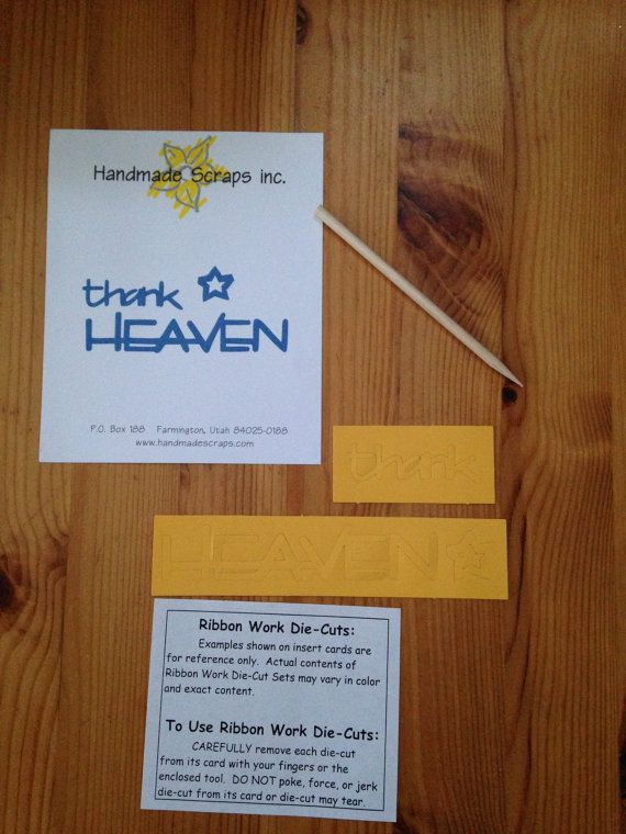 Thank Heaven Title Die Cut on Etsy, $1.25