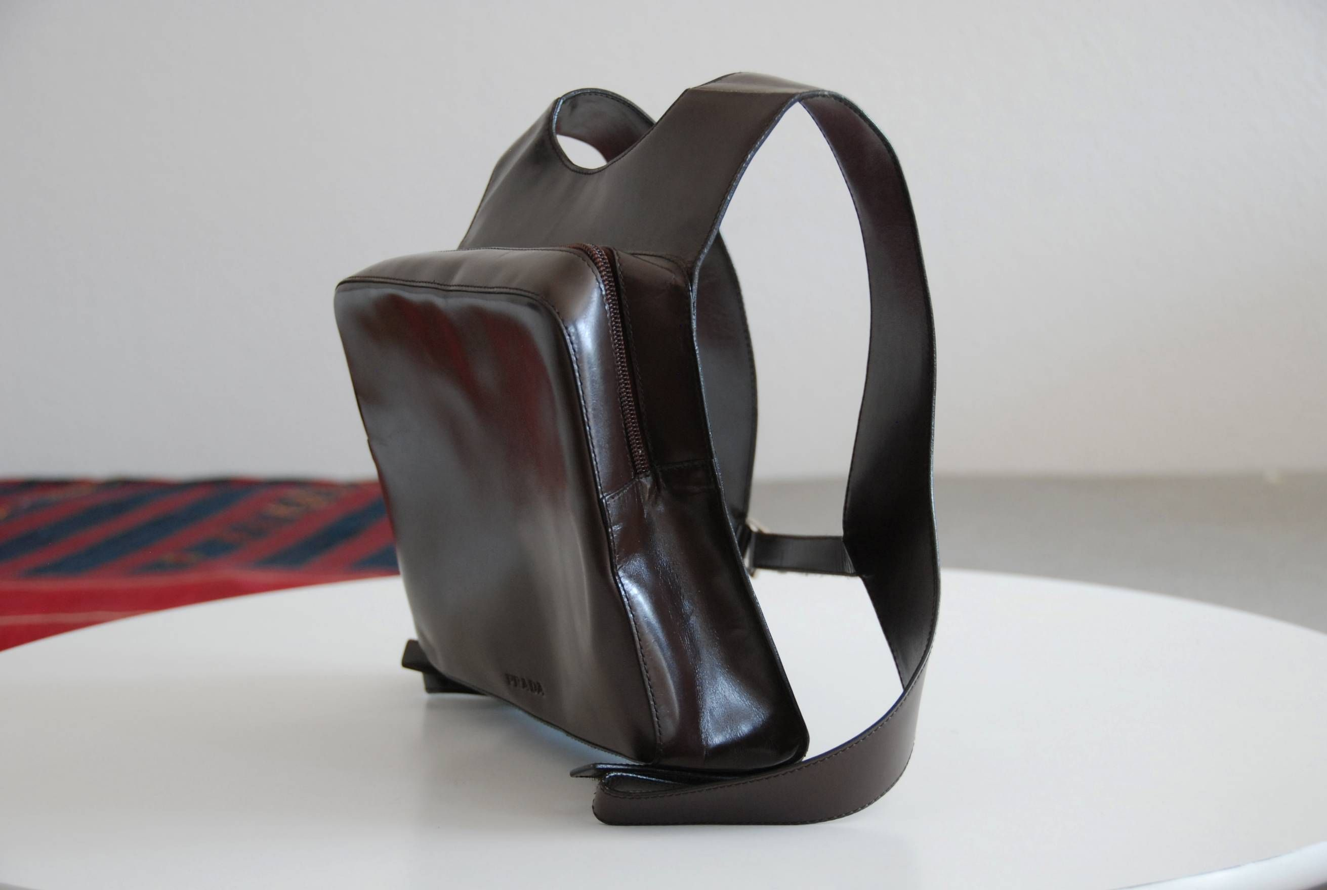 f373a4da5c9f Chest Rig Leather Backpack Runway SS1999 in 2019 | PRADA | Leather ...