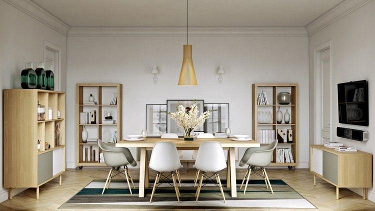 Esszimmer modern einrichten mit Wandregalen Esszimmer Ideen - esszimmer ideen modern