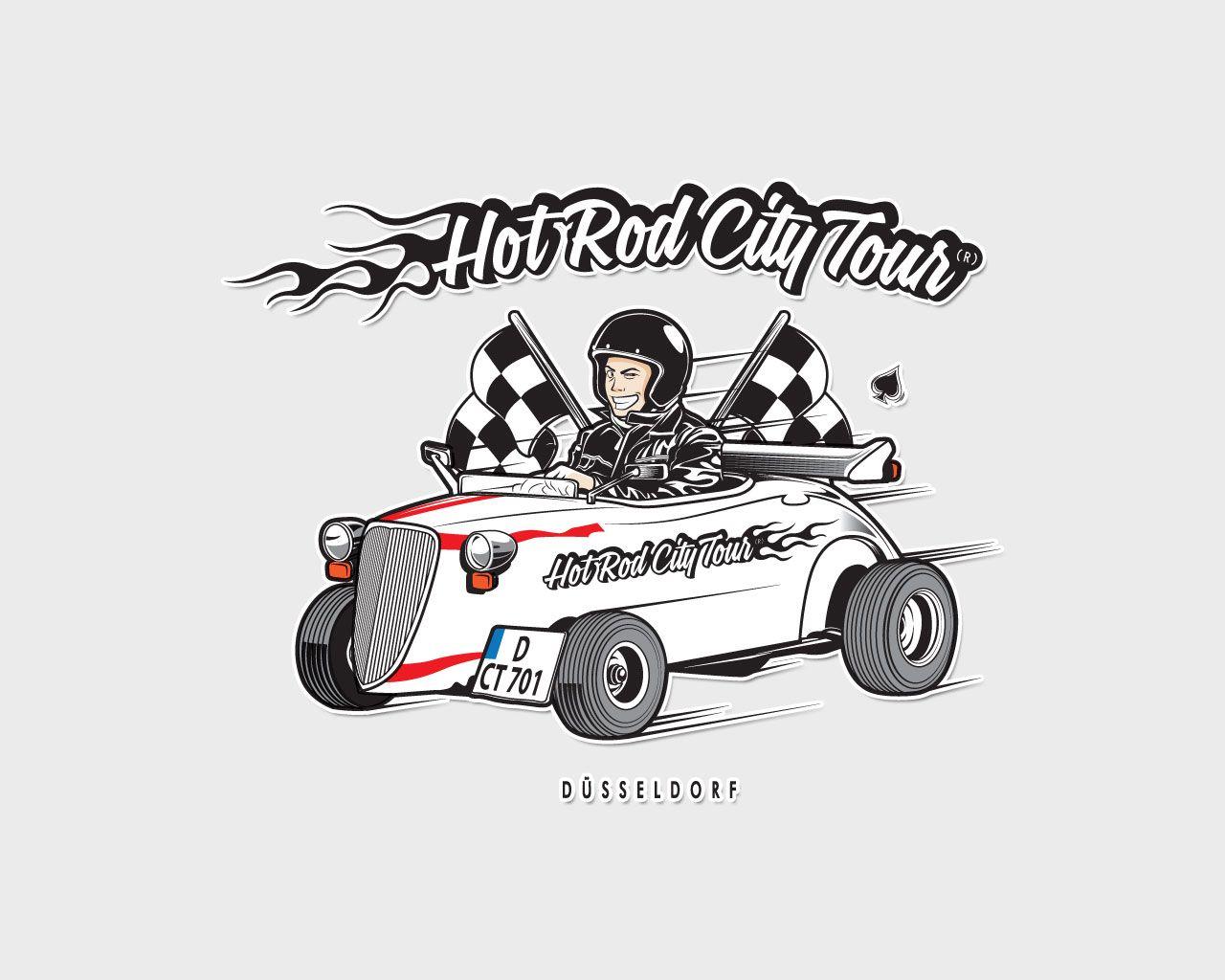 Illustration design for Hot Rod City Tour Dusseldorf www.hotrod ...