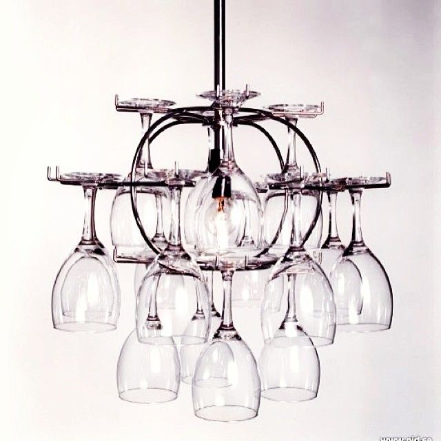 Wine Glass Storage That Doubles As A Chandelier