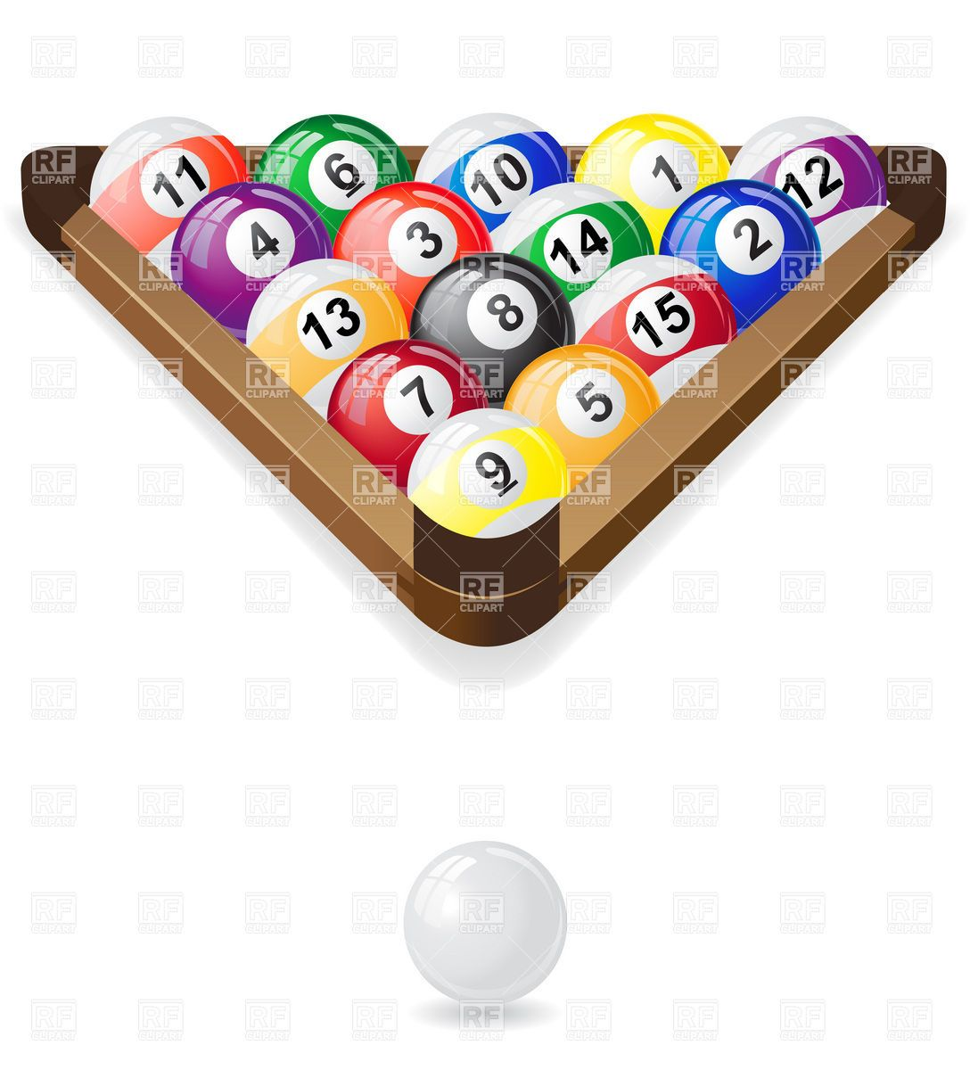vectors vector billiard royalty pool photo and cliparts table set balls glossy free stock