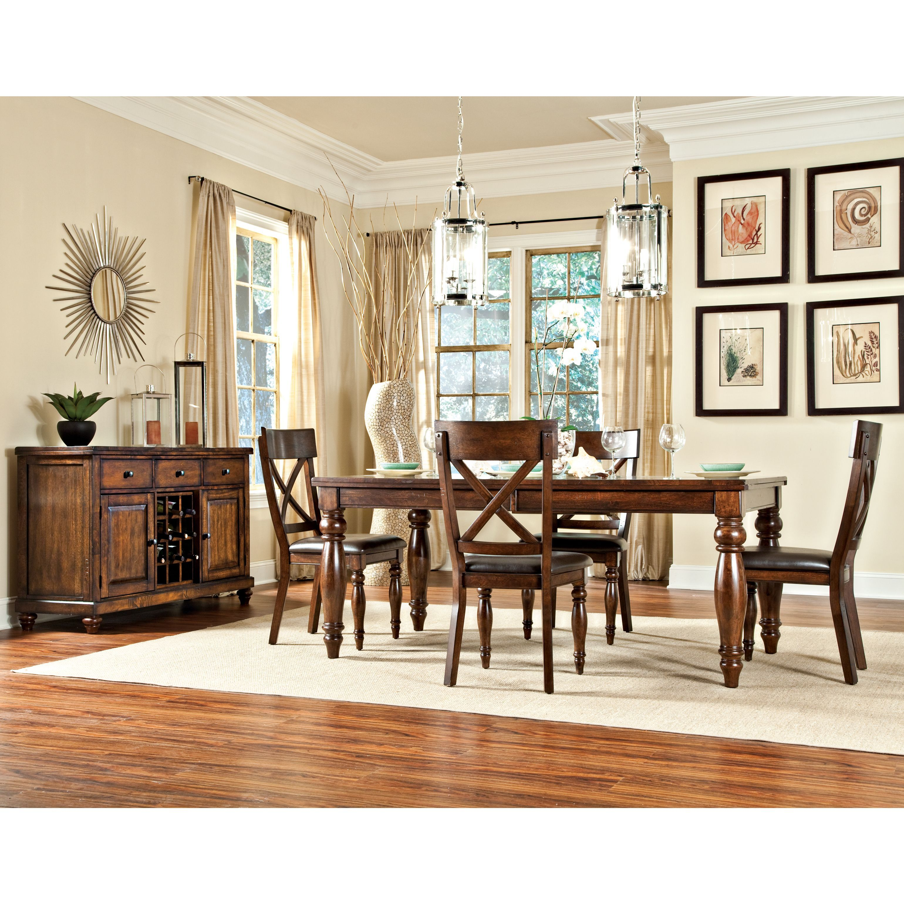 Made Of Durable And Sturdy Wood, This Kingston Dining Collection Includes A  Table And Four
