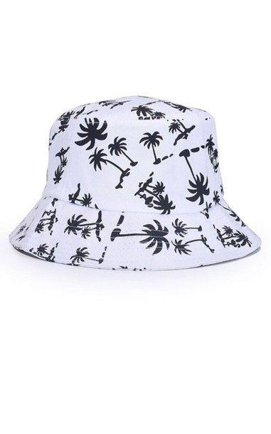 Palm tree printed  buckethat  898b8d354018
