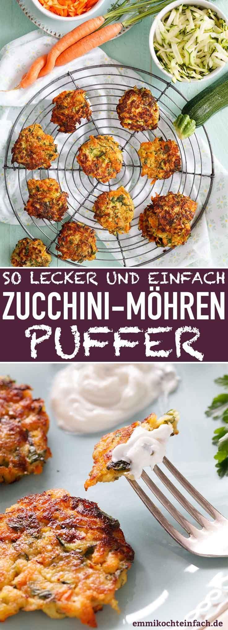 Zucchini Möhren Puffer - die leckeren Gemüsepuffer - emmikochteinfach