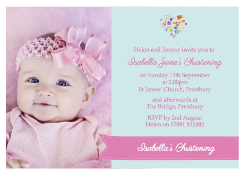 Invitation Card Christening  Invitation Card Christening Free - download invitation card