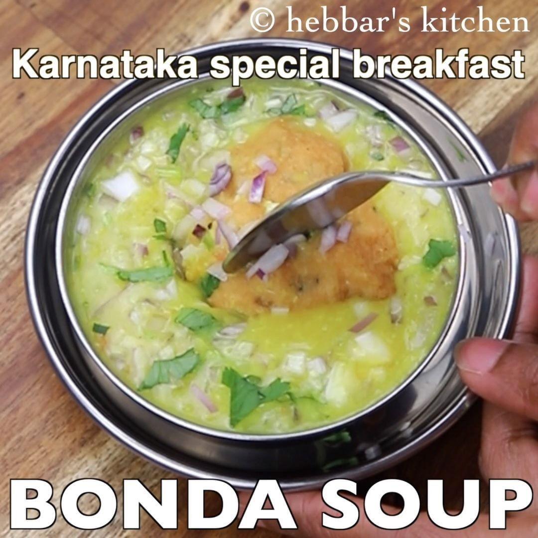 4 201 Likes 29 Comments Hebbar S Kitchen Hebbars Kitchen On Instagram Bonda Soup Recipe Urad Dal Fritters In A M Cooking Recipes Soup Recipes Recipes