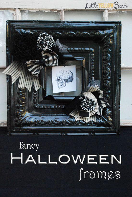 Little Yellow Barn Fancy Halloween Frames - Deux Halloween
