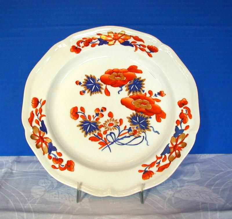 Early Derby Plate Chinoiserie With Imari Colors Antique 19th C Imari Porcelain Ceramics Plates