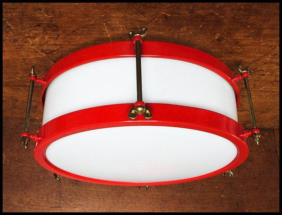 vintage snare drum light fixture cover with free domestic shipping drums drum light fixture. Black Bedroom Furniture Sets. Home Design Ideas
