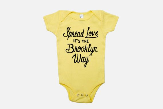 Spread Love It S The Brooklyn Way Baby Onesie Yellow Baby