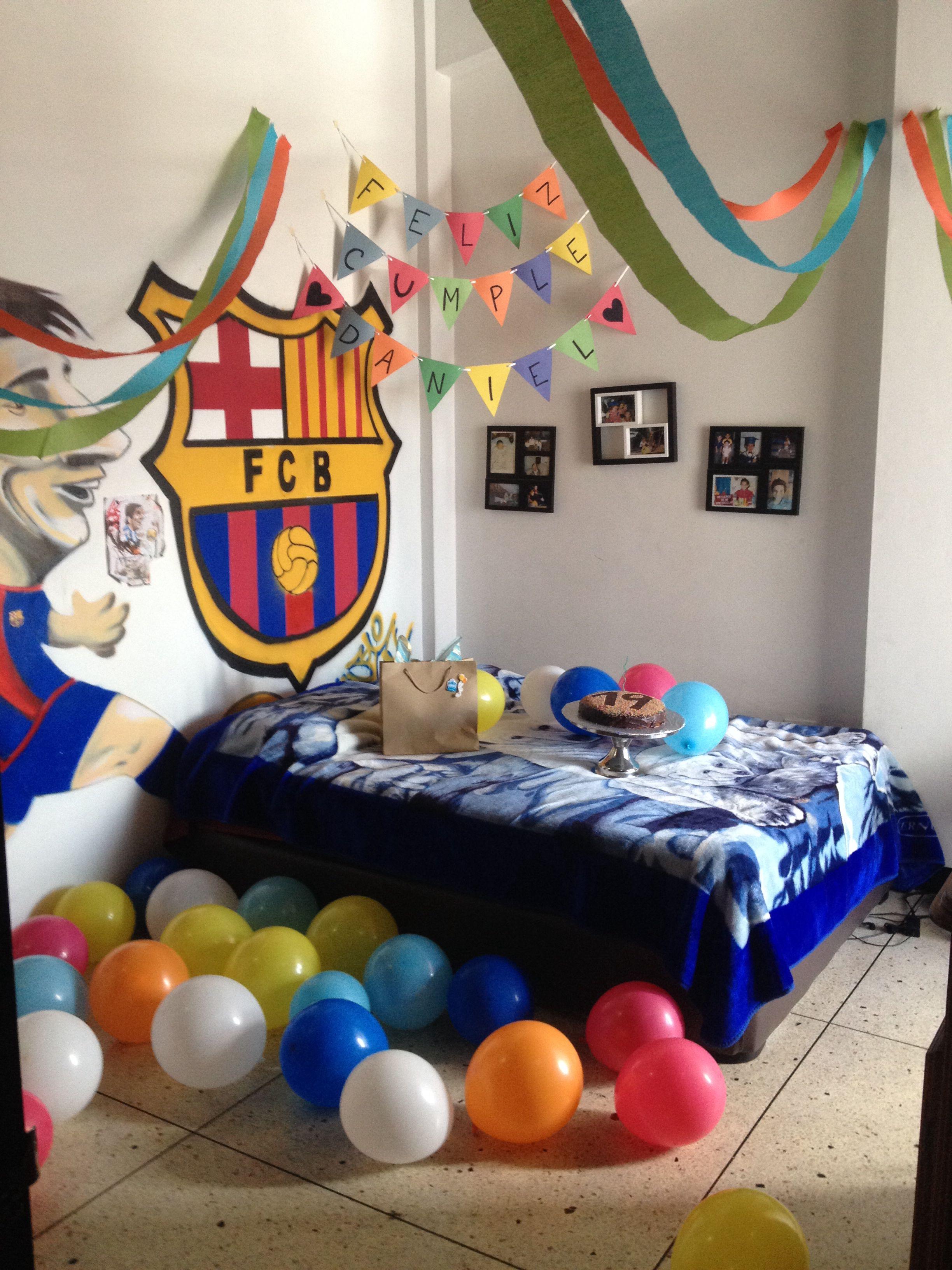 Sorpresa de cumplea os para algun novio futbolista sorpresa pinterest sorpresas de - Regalos originales decoracion ...