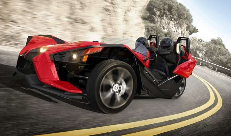 Polaris Slingshot<br>Price: Starting at $19,999<br>And now for something even more completely differ... - 2015 Polaris Industries Inc