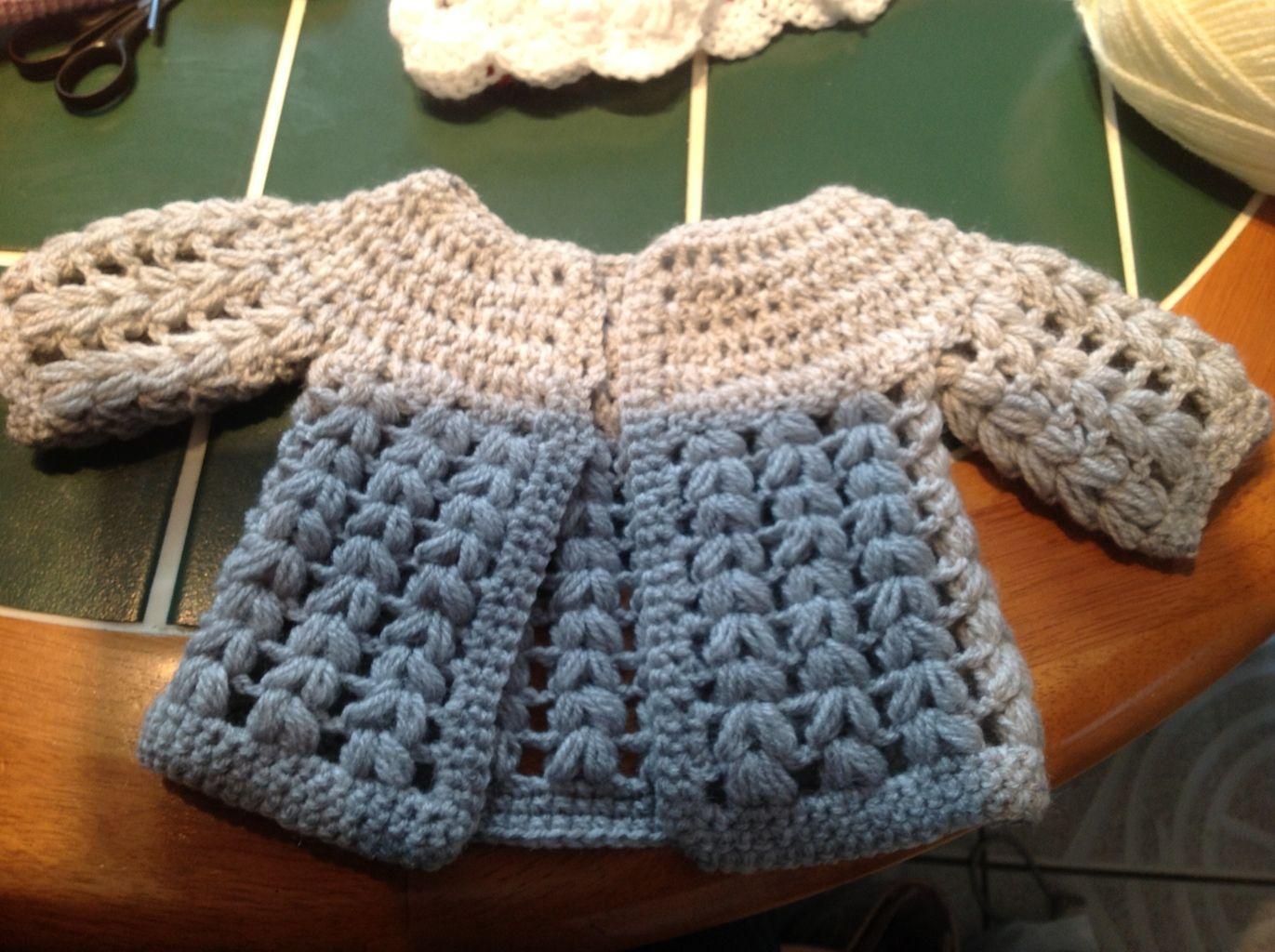 Free crochet baby cardigan pattern | Stricken und häkeln, Häkeln ...