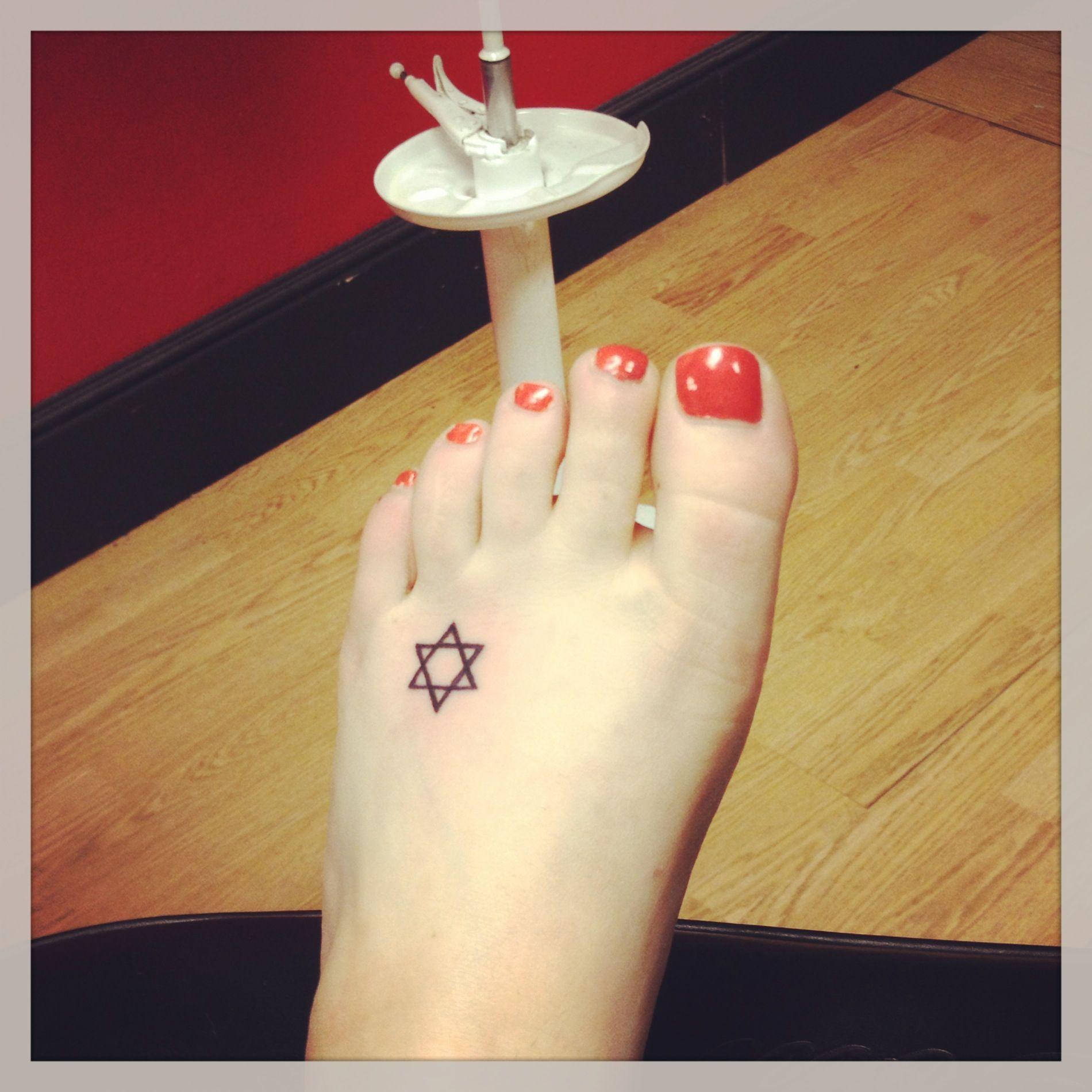 Small Star Of David Tattoo