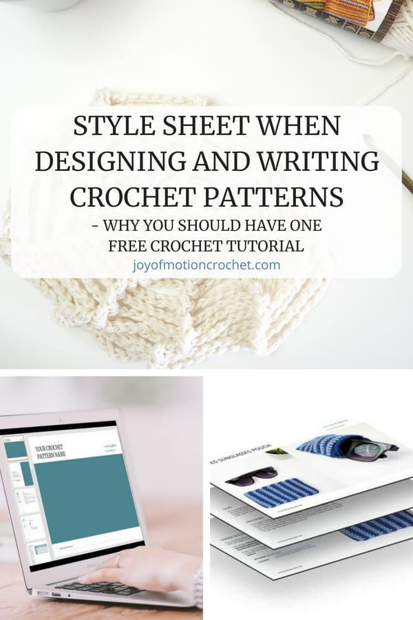 Style Sheet When Designing And Writing Crochet Patterns Pinterest